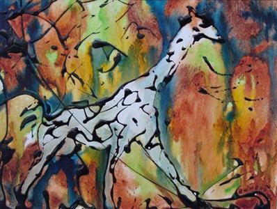 Giraffe Running