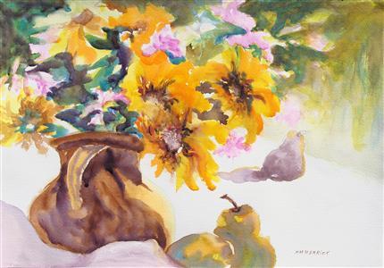 Sunflowers & Pears