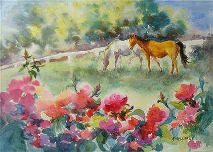 Horses and Roses