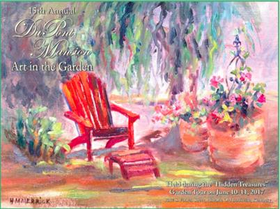 Dupont Mansion Garden Poster