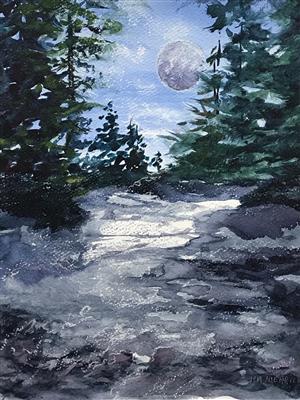Moon Over Washington