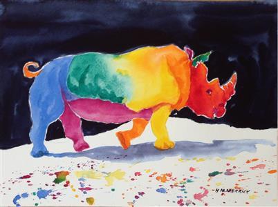 Rainbow Rhinocerous