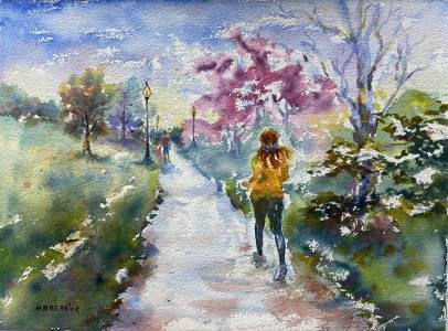 Jogging  in Seneca park